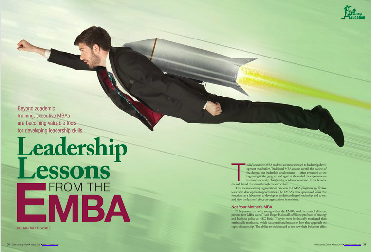 Randall P White on EMBA advantages