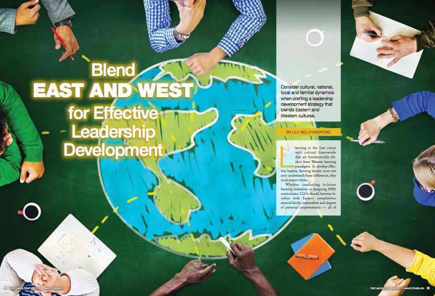 CLO magazine article on adapting western leadership development to Asia