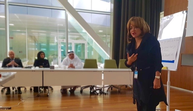 lily kelly-radford leading master class in doha